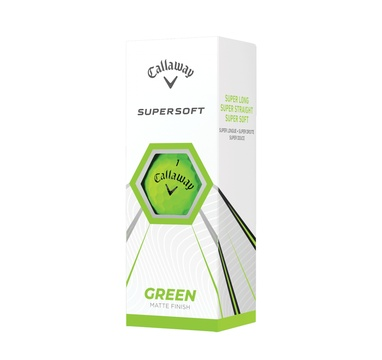 TimeForGolf - Callaway balls Supersoft 21 Green (zelené) 2-plášťové 3ks