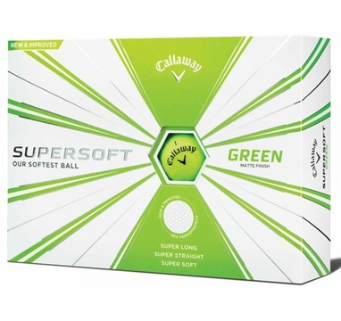 TimeForGolf - Callaway balls Supersoft Matte Green (zelený) 2-plášťový 3ks