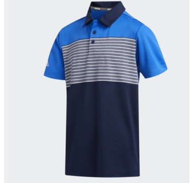 TimeForGolf - Adidas Jr polo Engineered modré