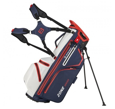 TimeForGolf - Bennington Stand bag ZONE Waterproof Navy / White / Red